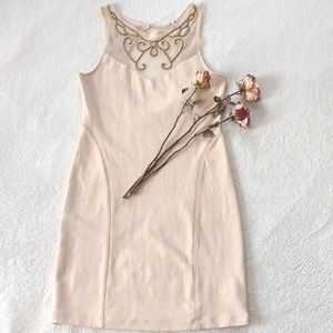 Free People sleeveless dress with gold beads